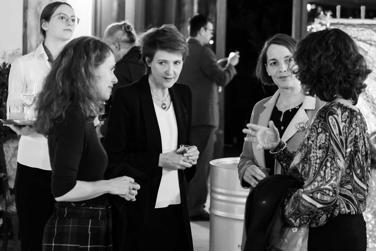 Regina Hügli, Barbara Husar and Simonetta Sommaruga