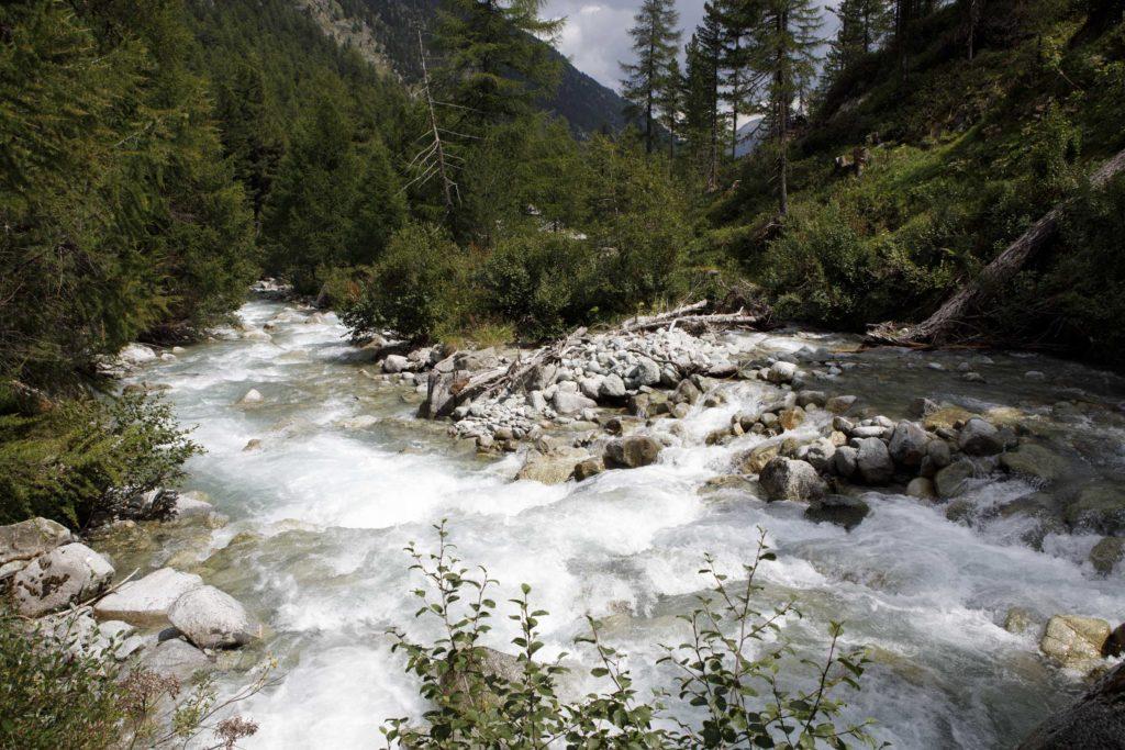 Wild river Beverin, Engadina, Switzerland